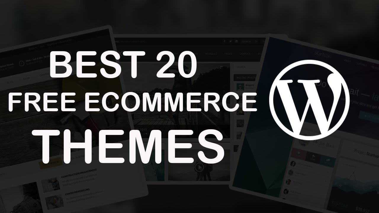 20 Best Free eCommerce Wordpress Themes 2017!