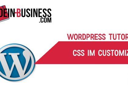 CSS im Customizer Wordpress Anfänger Tutorial