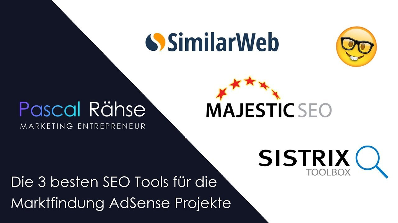 Die 3 besten SEO Tools - Marktfindung Google AdSense Projekte | Pascal Rähse