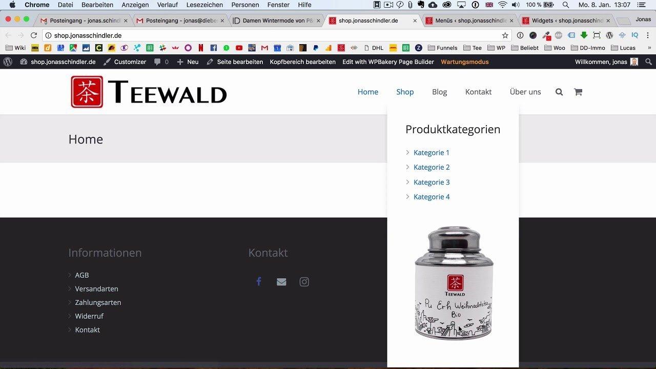 Dropdown Menü für deine WordPress Website mit dem Impreza Theme