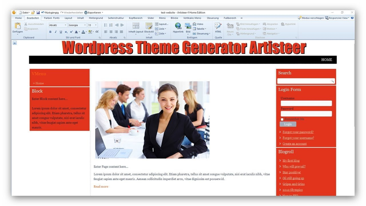 Eigenes Theme erstellen Wordpress Artisteer Theme Generator
