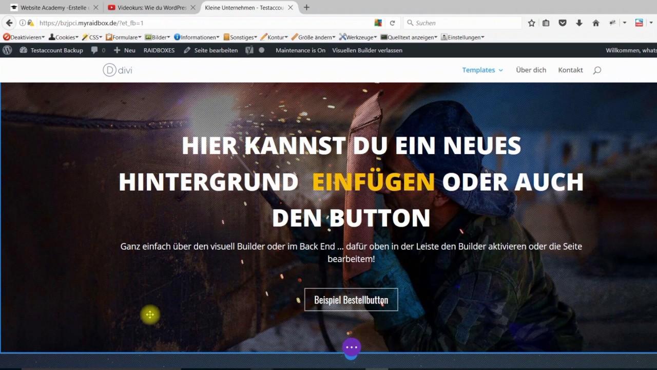 Einführungsvideo Divi WordPress Baukastensystem