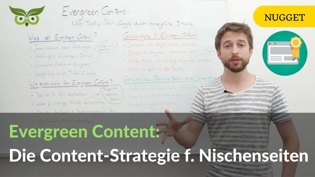 Evergreen Content: Die beste Content-Strategie für Nischenseiten & Co.