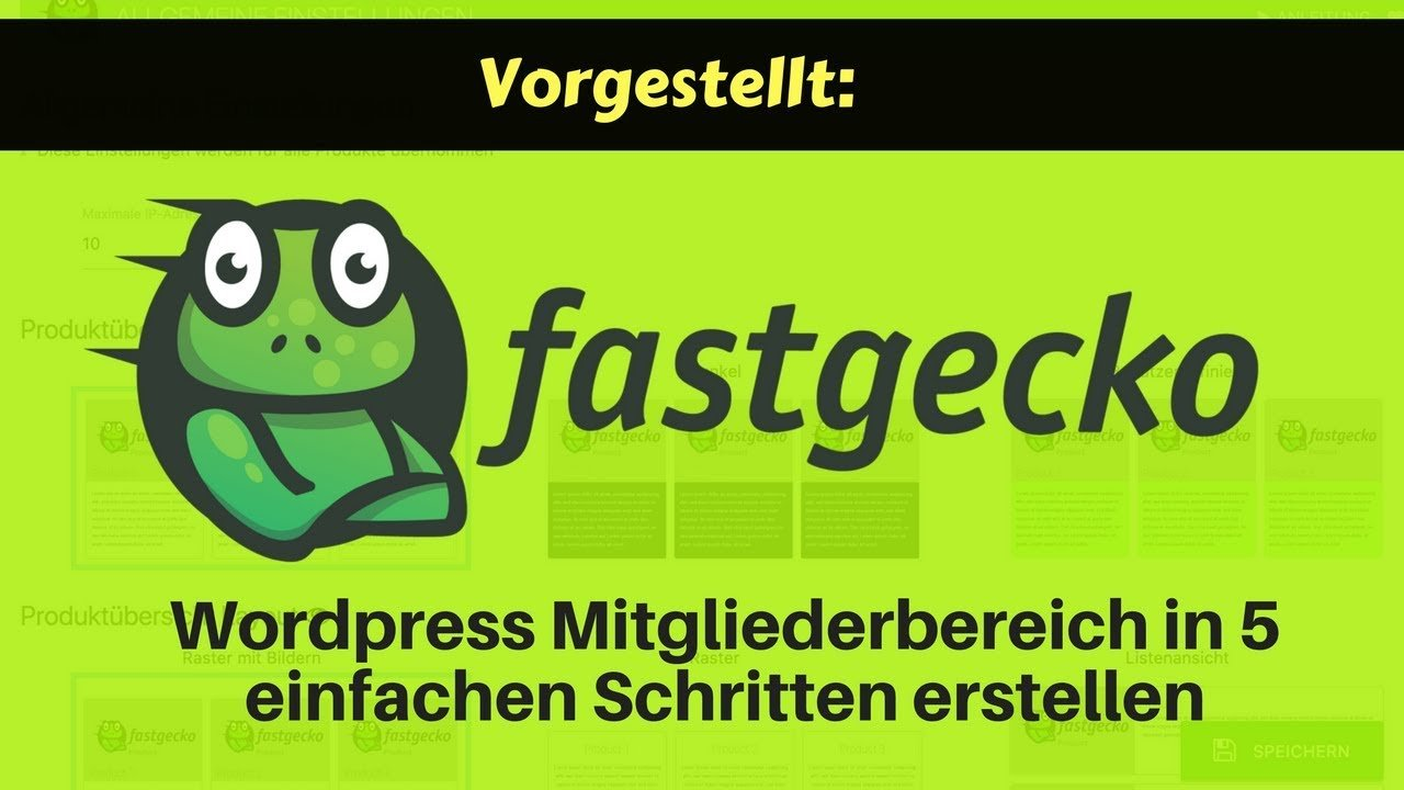Fastgecko Membership Plugin für Wordpress - Mitgliederseiten erstellen