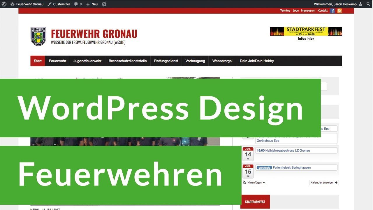 Feuerwehr Webseite erstellen | WordPress Design