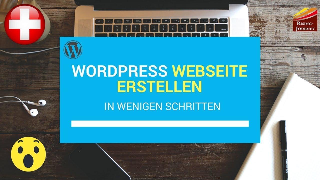 Hosttech erste Wordpress Webseite 2018 - Wordpress Tutorial 2018 - Webseite erstellen Schweiz