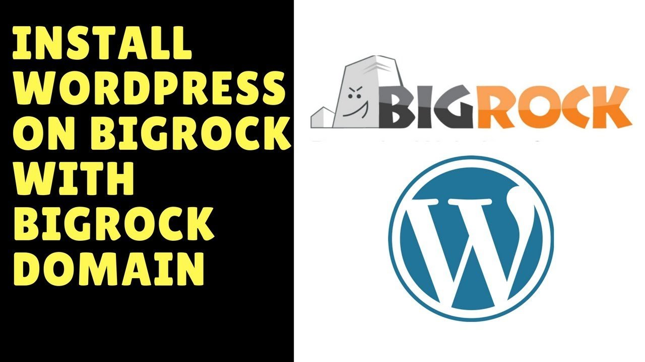 How to install wordpress on big rock with bigrock domain - bigrock domain to wordpress