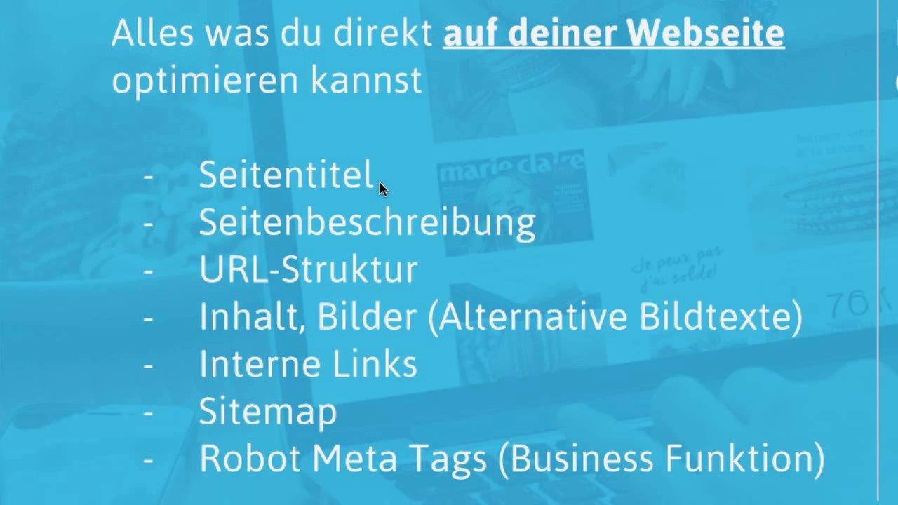 Jimdo-Webinar: SEO Grundlagen für Google & Co