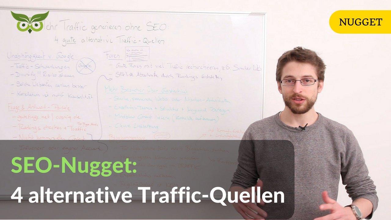 Mehr Traffic generieren ohne SEO: 4 gute alternative Traffic-Quellen