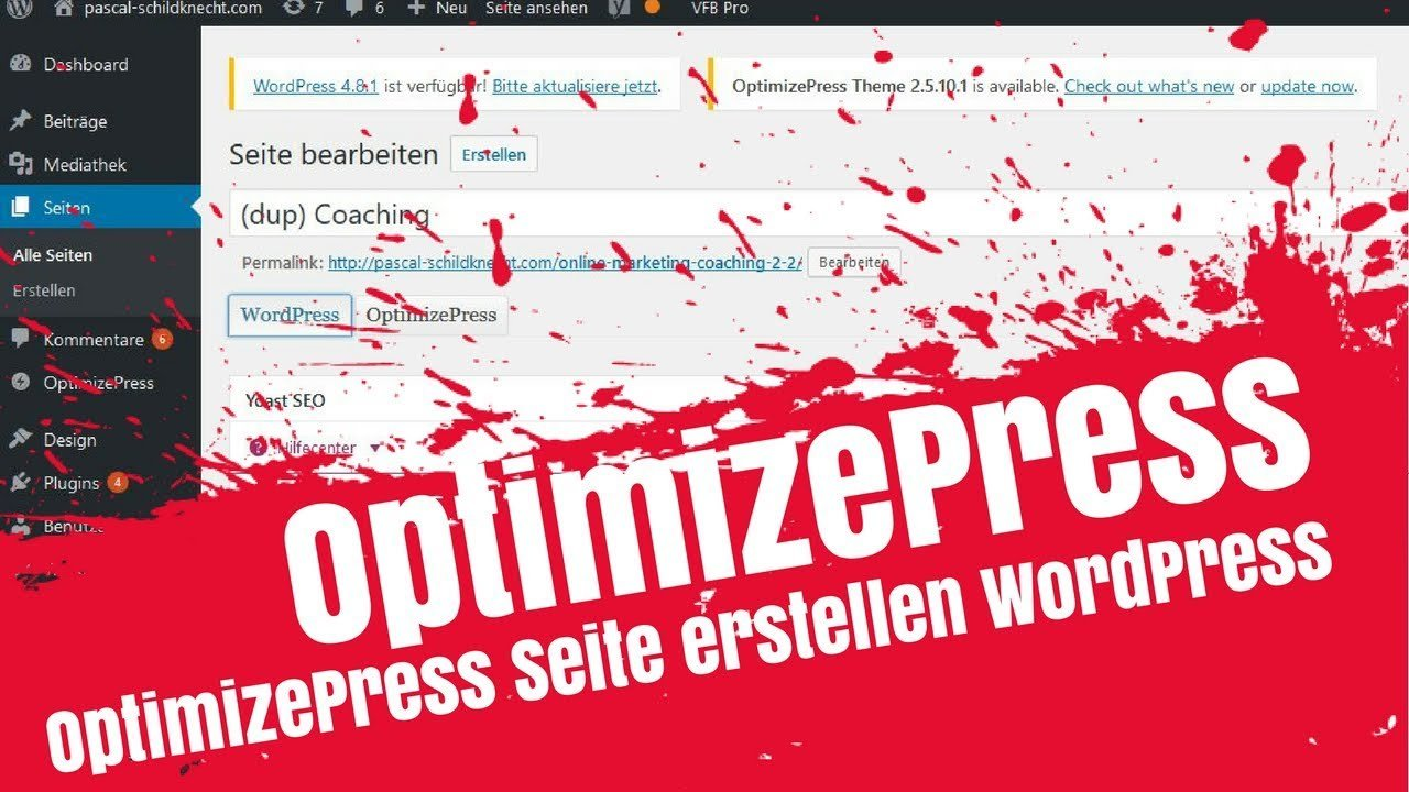 OptimizePress Seite erstellen / Website Editor WordPress deutsch