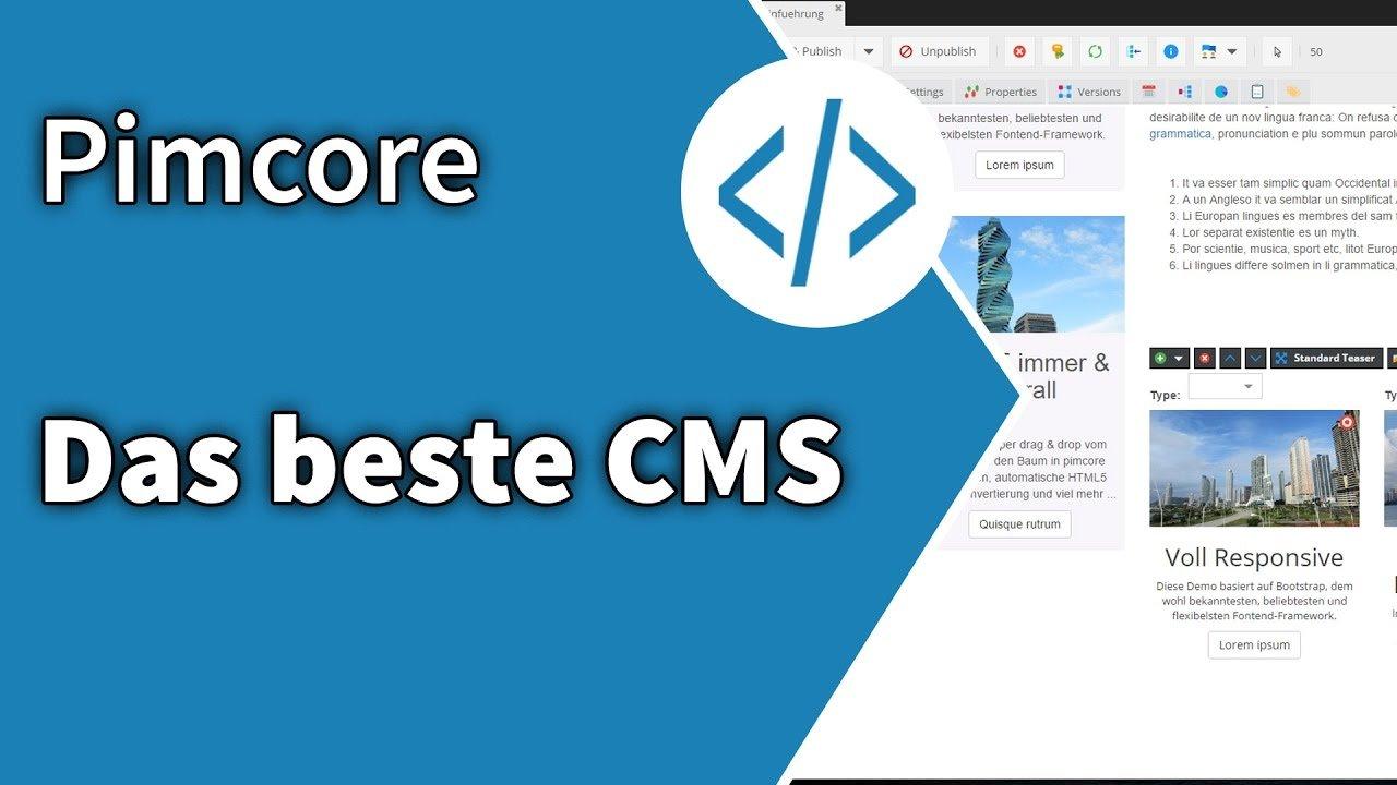 Pimcore: das beste CMS für Entwickler und Agenturen
