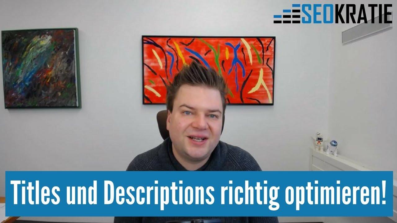 SEO: Titles und Desriptions richtig optimieren!