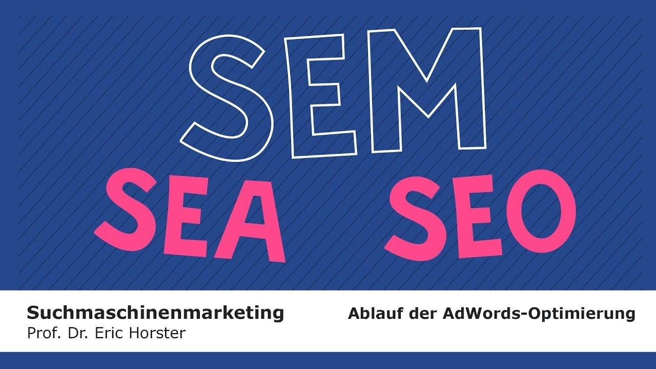 Suchmaschinenmarketing - #semmooc - Ablauf der AdWords-Optimierung
