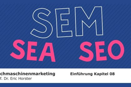 Suchmaschinenmarketing - #semmooc - Einführung Kapitel 08