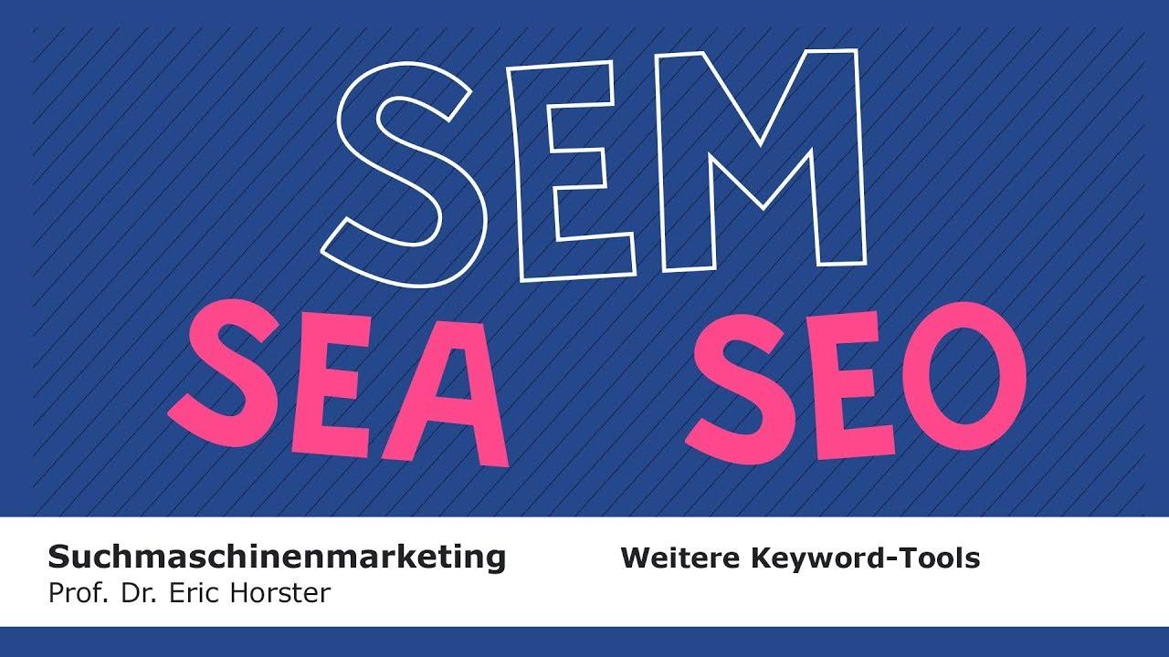 Suchmaschinenmarketing - #semmooc - Weitere Tools zur Keyword-Recherche