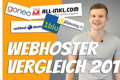 Webhosting Vergleich 2017   Top 10 beste Webhoster im Test [Deutsch]