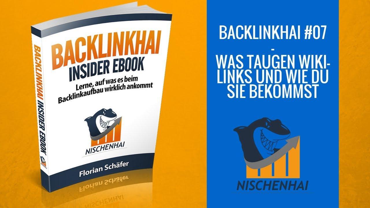 Wikipedia Links - Wie du sie ganz simpel bekommst und was sie taugen - Backlinkhai #07