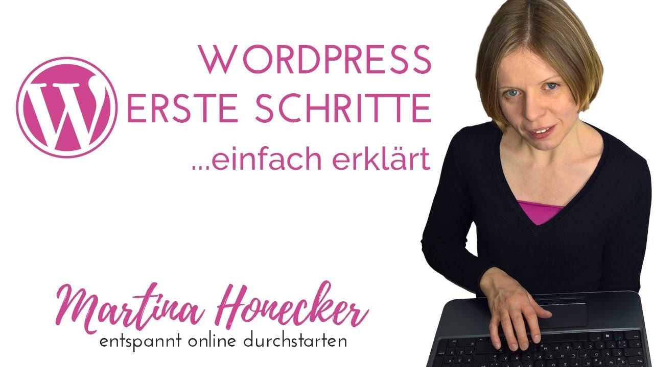 WordPress - erste Schritte nach der Installation