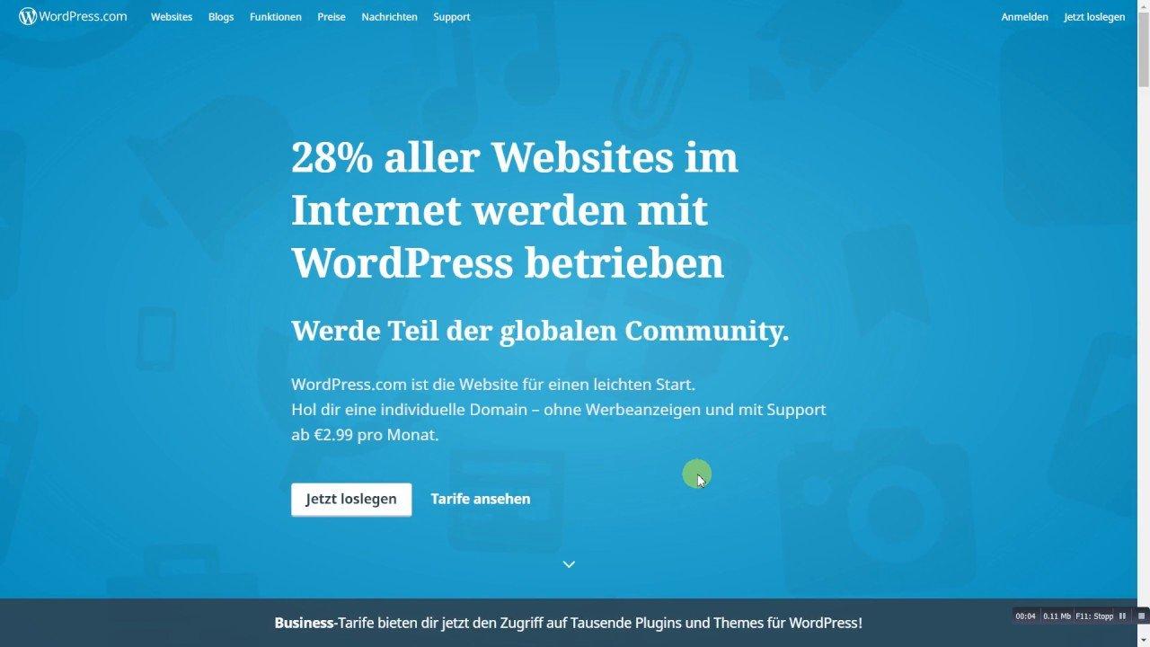 Wordpress für Anfänger! #1 - Die Registrierung