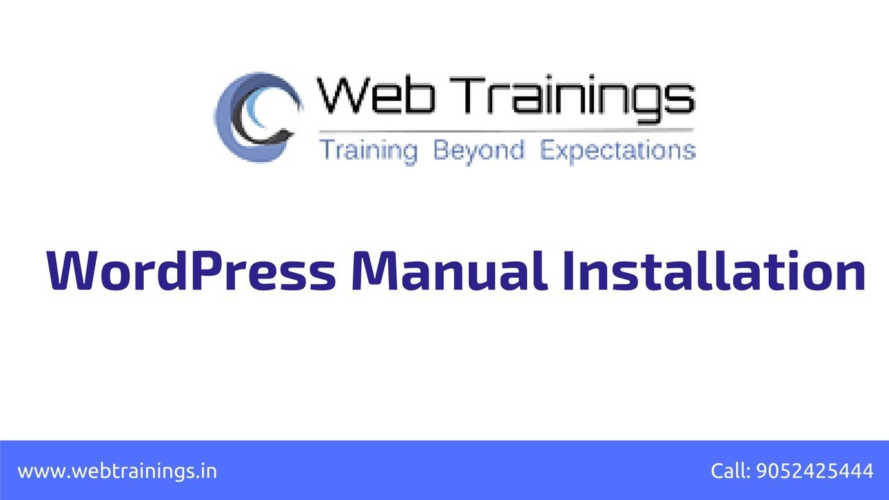 WordPress Installation 2017 - How to Install WordPress Manually in Cpanel/FTP