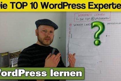 WordPress lernen von den Top 10 WP Experten