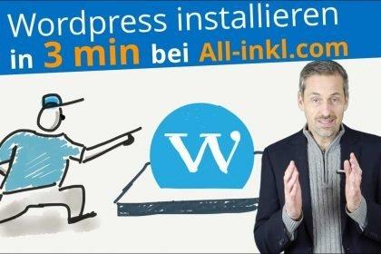 Wordpress neu installieren in 3min bei All-Inkl.com 2018