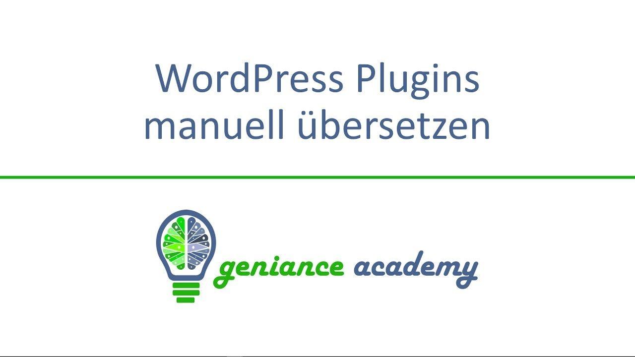 WordPress Plugins und Themes manuell übersetzen
