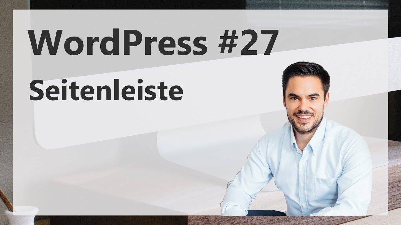 WordPress Seitenleiste erstellen und gestalten / WordPress #27