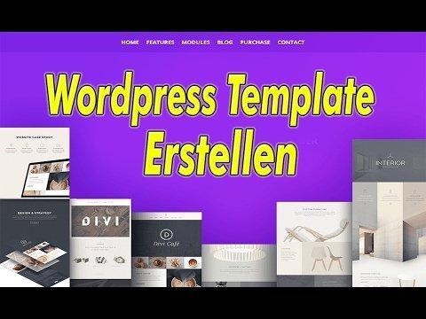 Wordpress Template Erstellen - Eigenes Template - 2017
