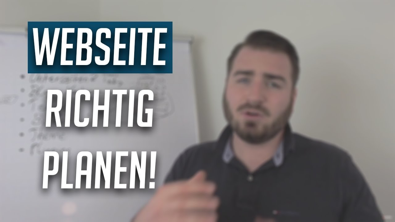 WordPress Webseite richtig planen! Tutorial