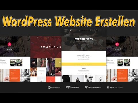 WordPress Website Erstellen | WordPress Tutorial - 2017