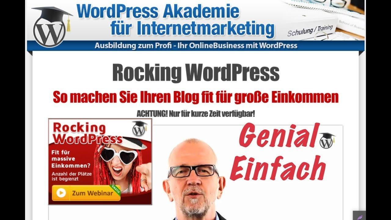 WordPress WEBSITE ERSTELLEN # WordPress Tutorial # German # GENIAL EINFACH