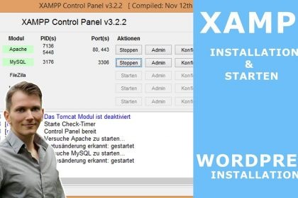 XAMPP installieren & einrichten  - WordPress installation auf XAMPP | tutorial deutsch - 2017