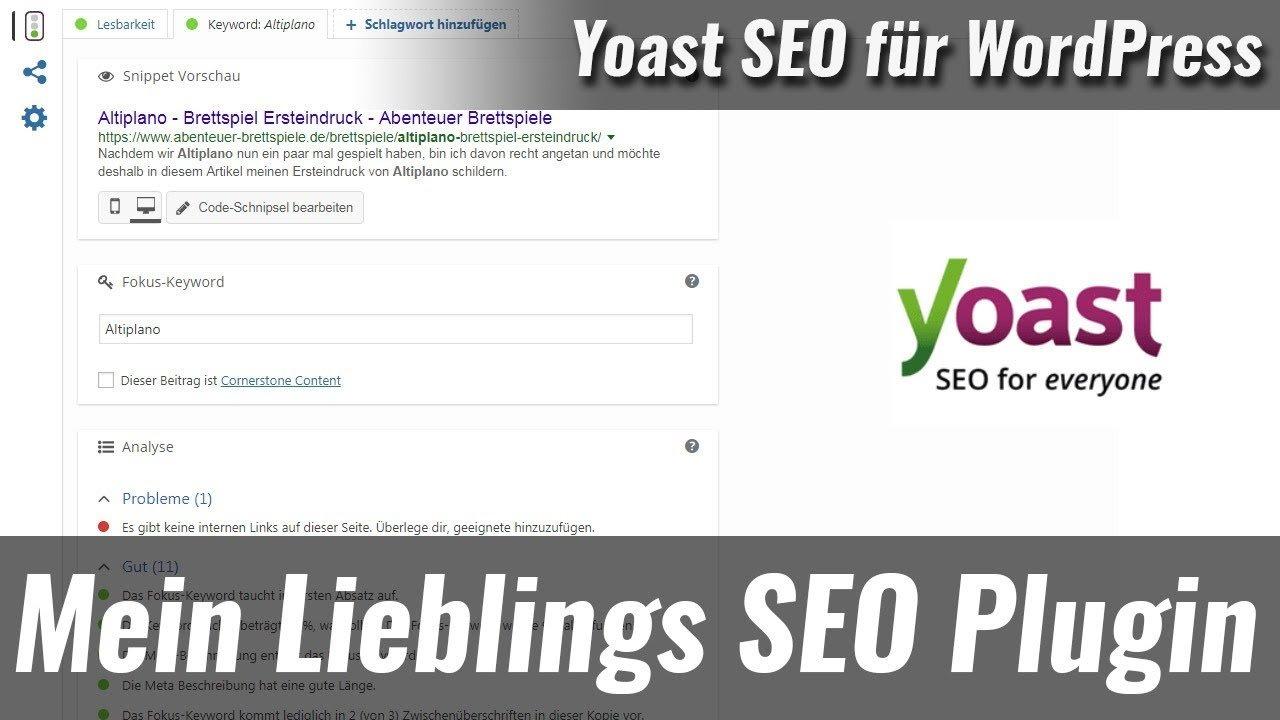 Yoast-SEO - Mein Lieblings SEO-Plugin für WordPress