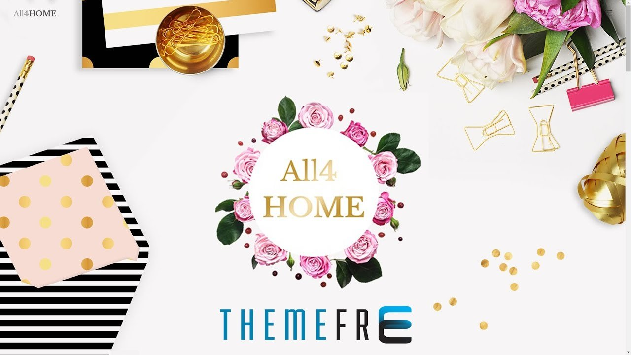 ALL4HOME Beautiful Wordpress Theme for Home Decoration, Interior Design, Furniture