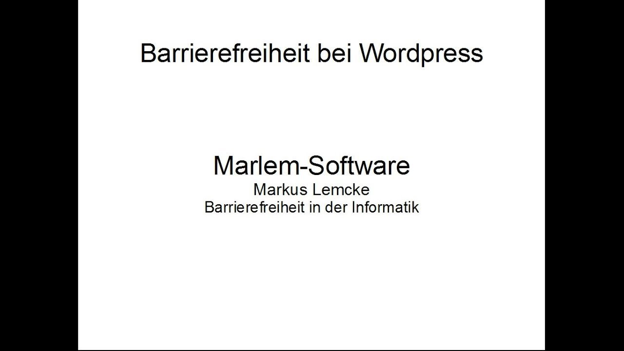 Barrierefreiheit bei Wordpress