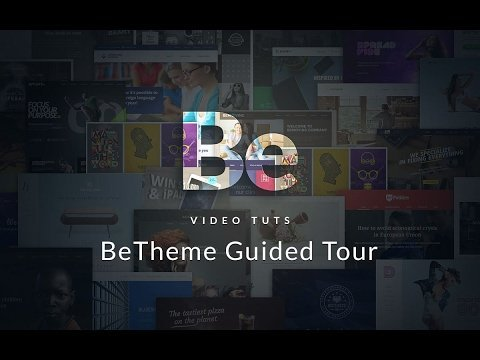 BeTheme Guided Tour