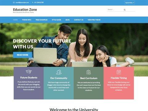 Education Zone Free WordPress Theme Review Download Link