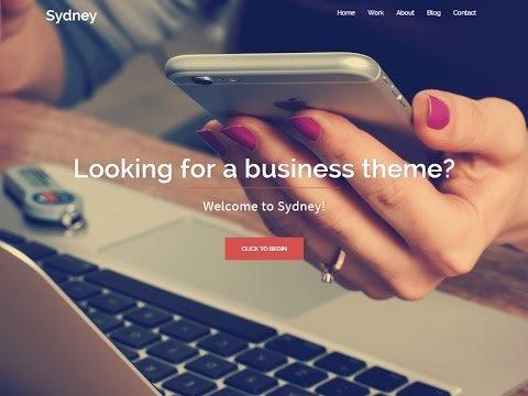 How To Create Company Website in WordPress - Sydney WordPress Theme Customization Tutorial
