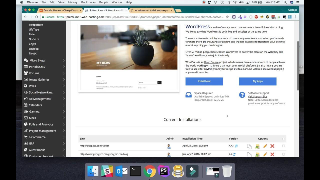 How to Install Wordpress on NameCheap hosting