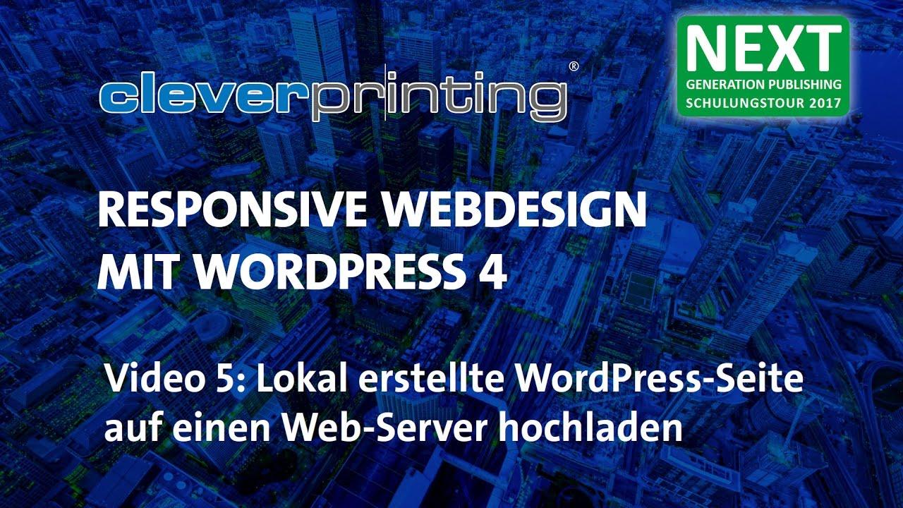 Lokales Wordpress auf den Webserver umziehen