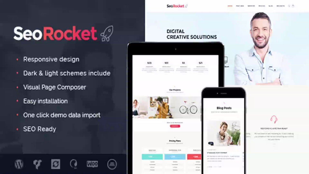Seo Rocket | SEO & Marketing WordPress Theme | Themeforest Website Templates and Themes