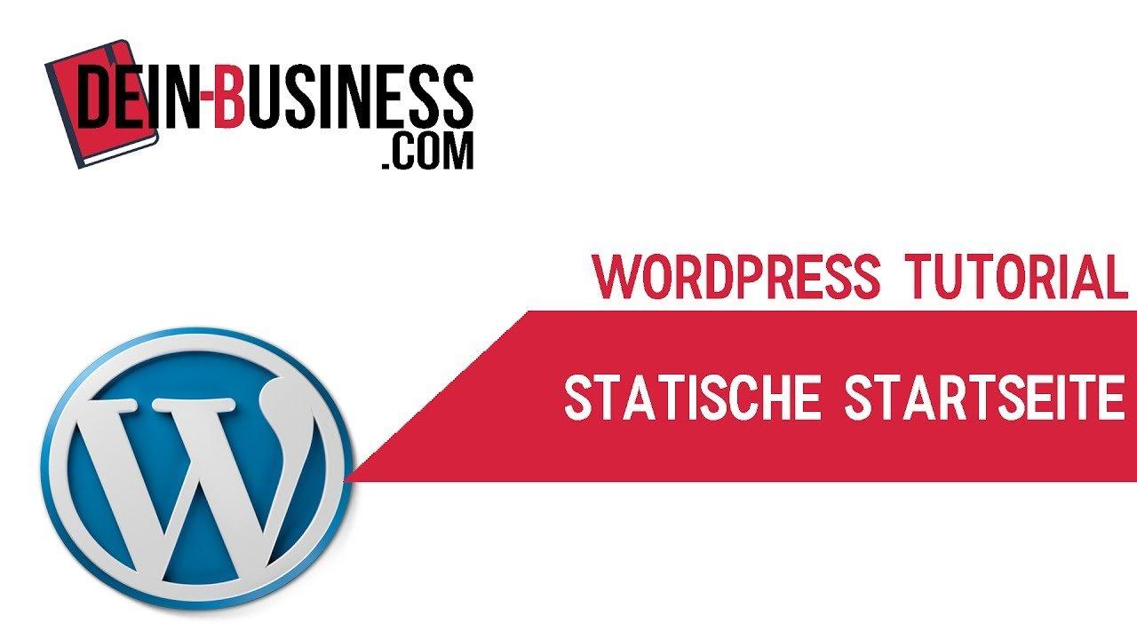 Statische Startseite anlegen Wordpress Anfänger Tutorial