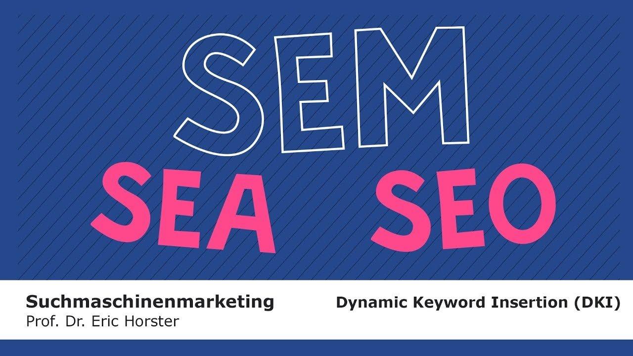 Suchmaschinenmarketing - #semmooc - Dynamic Keyword Insertion (DKI)