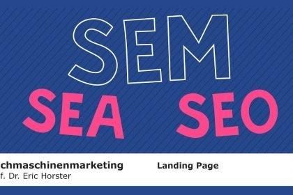 Suchmaschinenmarketing - #semmooc - Landing Page