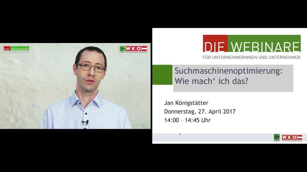 Suchmaschinenoptimierung (1) Was bedeutet Suchmaschinenoptimierung? WKO WIFI InfoKompakt
