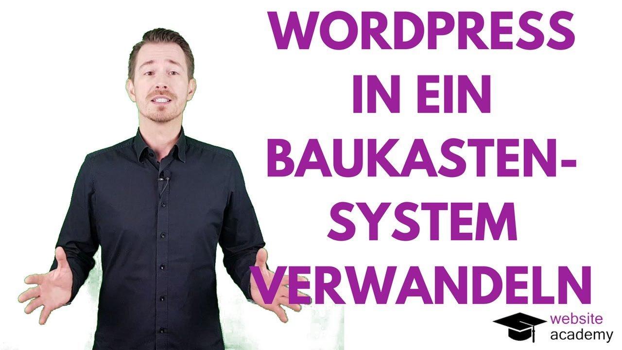Videokurs: Wie du WordPress in ein Baukastensystem verwandelst