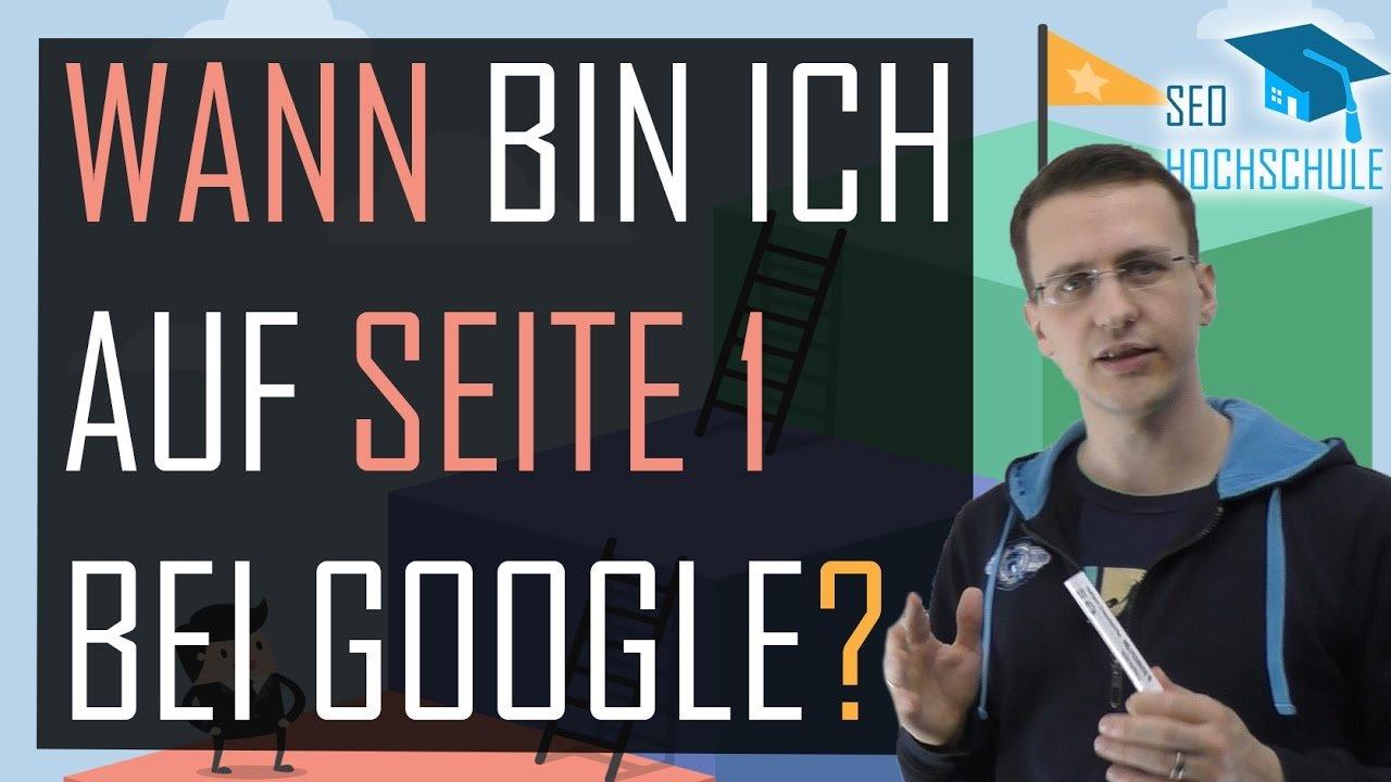 Wie lange dauert es, bis ich bei Google auf Seite 1 bin? - SEO Dienstag #25