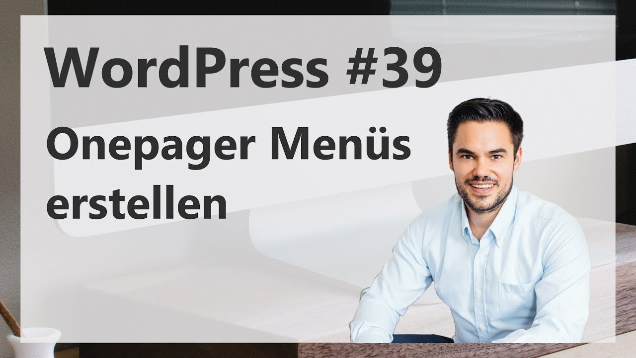 WordPress Onepager Menüs erstellen / WordPress #39