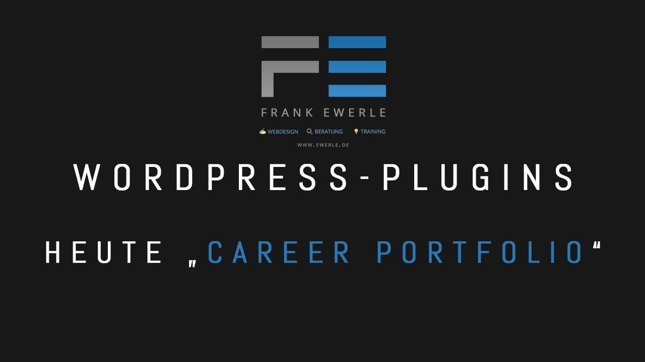 Wordpress Plugin - Career Portfolio